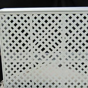 Bar Portable White Lattice
