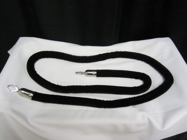 Metal Stanchions Velour rope 8 ft