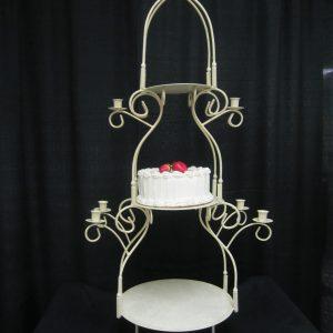 Cake Sand/3 tier/Metal/Gld