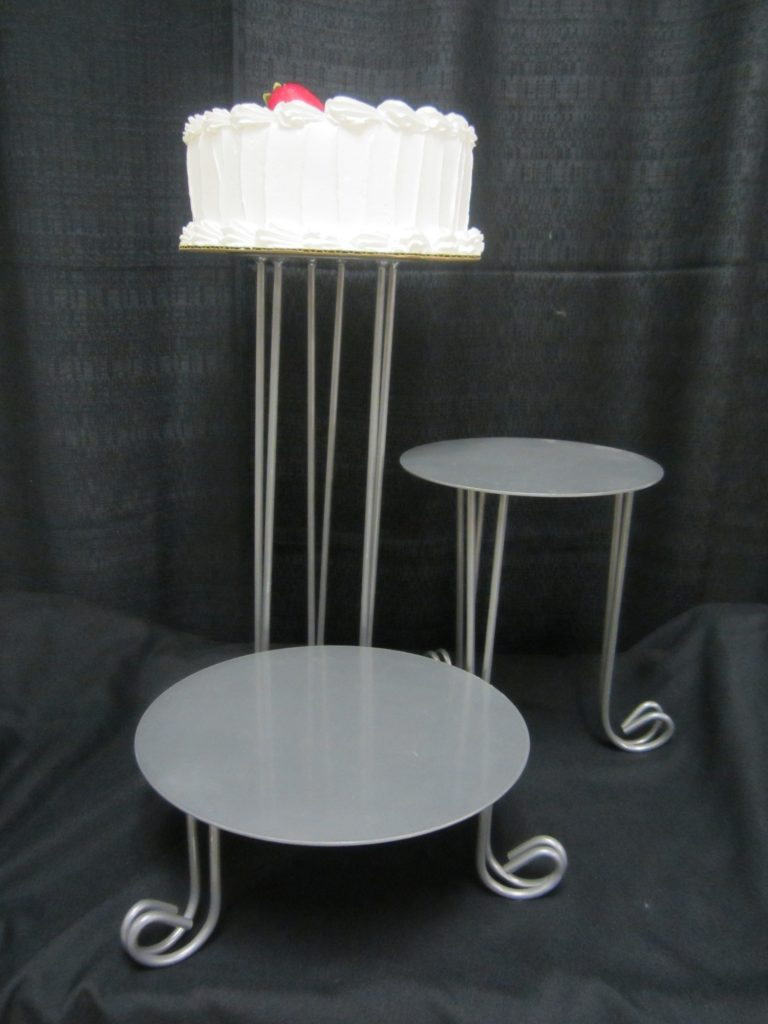 Cake Stand/Silver/3 Piece